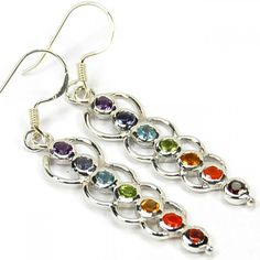 Amazing Chakra Earring at very low Price. Sterling silver 925 chakra Jewelry.