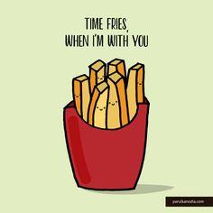 Funny Food Puns, Punny Puns, Food Humor, Funny Doodles, Cute Doodles, Cheesy Puns, Love Puns, Karten Diy, Pun Card