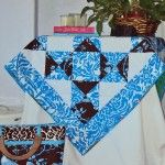 pieced quilted table topper, west indies, jennifer paganelli, sis boom