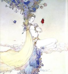 Moment Of Peace #ConceptArt from #FinalFantasyV by #YoshitakaAmano