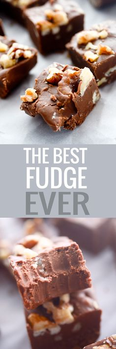 The BEST fudge ever. The only recipe you'll ever need. Period.  Recipe Diaries