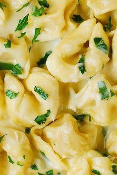 Creamy Asiago Cheese Garlic Tortellini