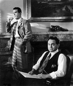 """double indemnity""  Fred MacMurray, Barbara Stanwyck. edward g. robinson"