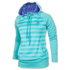 <p>Keep it cozy and cute with the Women's adidas Ultimate Fleece Striped Hoodie. This CLIMAWARM hoodie features thermal insulation that locks in heat for the chilly weather, while the moisture wicking properties keep you dry. The polyester build means you'll stay comfy no matter if you're hanging out, having a coffee date with the girls, or heading out for a easy night on the town.</p> <p>FEATURES: </p> <ul><li>FABRIC: 100% polyester fleece</li> <li>FIT: Semi-fitted</li> <li>CARE: Machine…