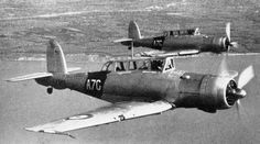 British Skua aircraft of 803 Squadron Fleet Air Arm in flight, date unknown, photo 1 of 2