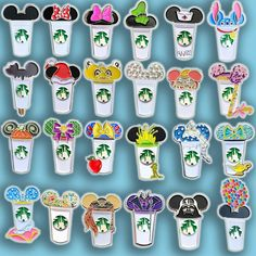 Castle Coffee Cups Various Styles Rapunzel Castle, Elsa Castle, Beast's Castle, Cinderella Castle, Disney Pins Sets, Disney Trading Pins, Little Mermaid Castle, The Little Mermaid, Darth Vader Castle