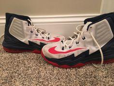 7b8781c3b55d0b Nike Air Max Audacity 2016 Men s Red Blue Basketball Shoes Size 7.5  Athletic  fashion