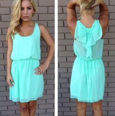 Cyan blue dress