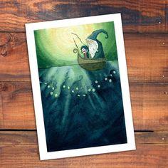 Harry Potter Print by flyinggroundhog on Etsy, $20.00
