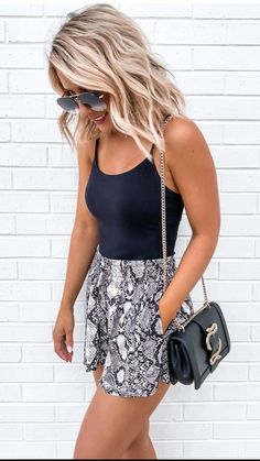 Spring Outfits For Teen Girls, Casual Summer Outfits For Women, Spring Outfits Women, Cute Casual Outfits, Short Outfits, Chic Outfits, Casual Summer Style, Casual Summer Clothes, Best Summer Outfits