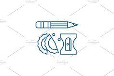 Pencil Design, Line Icon, Outline, Symbols, Letters, Illustration, Icons, Illustrations, Lettering
