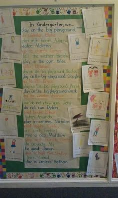 In Kindergarten we ... whole group writing....cute to do for the end of the year and leave up for the upcoming kinders.