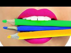 How to Sneak Candy in Class! School Pranks and 15 DIY Edible School Supplies! - YouTube