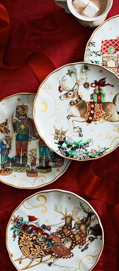 Twas the Night Before Christmas Plates