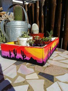 Diy Garden Decor, Garden Ideas, Pasta Piedra, Painted Clay Pots, Ocd, Ideas Para, Art Ideas, Planter Pots, Diy Projects
