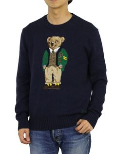 Best polo sweater, New Polo Ralph Lauren Crew Neck Polo Bear Sweater Pullover Sweatshirt - Navy. Polo Sweater, Grey Sweatshirt, Graphic Sweatshirt, Ralph Lauren Pullover, Polo Ralph Lauren, Bear Men, Black Sweaters, Christmas Sweaters, Crew Neck