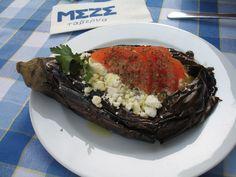 "Stuffed eggplant from ""Meze"" in Bucharest. ( A. Carman)"