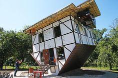 Upside-down house in Kaliningrad