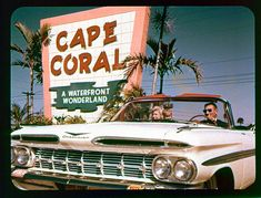One of the original promo photos for Cape Coral (my second home), Florida. From the 70s.