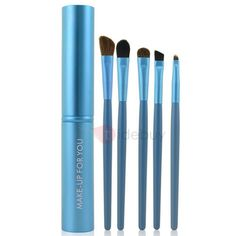 #TideBuy - #TideBuy 5 Pcs Makeup Brush for Eyes with Aluminum container - AdoreWe.com