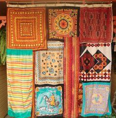 Scarf shower curtain or drapes Bohemian Room, Bohemian Girls, Bohemian Interior, Bohemian Design, Bohemian Gypsy, Scarf Curtains, Diy Curtains, Gypsy Curtains, Gypsy Decor