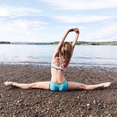 Photo shared by Anna McNulty on September 2015 tagging Flexibility Dance, Flexibility Workout, Gymnastics Flexibility, Gymnastics Photography, Dance Photography, Will Turner, Beach Gymnastics, Gymnastics Poses, Cheerleading