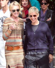 Portia and Ellen DeGeneres