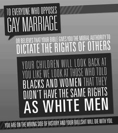 You cannot dictate who gets rights and who doesn't!