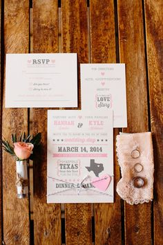 sweet Western invitation | Tucker Images #wedding