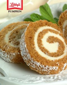 Packed with sweet cream cheese filling and sprinkled with powdered sugar, you can't go wrong with this delicious Pumpkin Roll recipe.