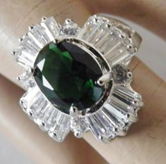Spectacular Faux Emerald and Diamond Coctail by veryfrenchbydesign, $95.00