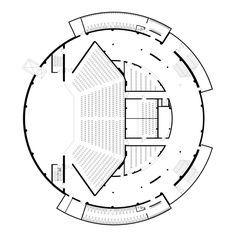 Gallery of Palanga Concert Hall / Uostamiescio projektas - 22 Auditorium Plan, Auditorium Architecture, Theatre Architecture, Auditorium Design, Auditorium Seating, Architecture Concept Diagram, Cultural Architecture, Architecture Plan, Concert Hall Architecture