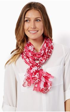 Lipstick Jungle Accent Scarf from Charming Charlie for her. #valentinesday #giftsforher