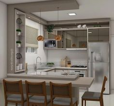 Outstanding living kitchen room are offered on our internet site. look at this and you will not be sorry you did. Simple Kitchen Design, Kitchen Room Design, Living Room Kitchen, Home Decor Kitchen, Kitchen Layout, Interior Design Kitchen, Home Kitchens, Kitchen Sets, Small Farmhouse Kitchen