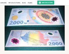 Romanian 2000 Lei: The first polymer banknote in Europe at kollectbox.com Join…