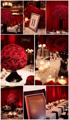 Black and Red wedding ideas | Weddinary.com, replace roses with carnations and its perfect