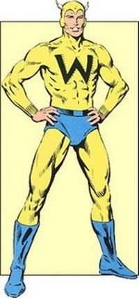 """The Whizzer: """"The origin of the Golden Age character begins while Robert Frank is on a trip to Africa with his father, Dr. Emil Frank, where Robert is bitten by a cobra. Dr. Frank saves Robert by a transfusion of mongoose blood, and soon discovers that he has developed super-speed."""" - Wikipedia"""