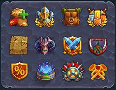 Heroes&Puzzles UI on Behance