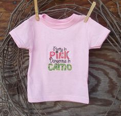 Baby Girl  Embroidered  T shirt Pretty in Pink by SouthernSister2, $15.00