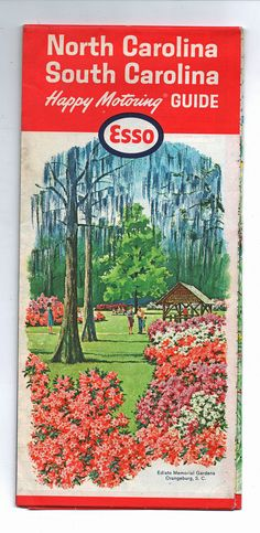 Road Map of North and South Carolina Vintage Road by AtticEmporium, $4.50