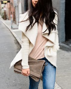 Lighten up! Your pastel palette is a breath of fresh air, @hey_im_kate. Lovin' your shearling-lined #StitchFix cardigan.