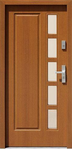 Drewniane wejściowe drzwi zewnętrzne do domu z katalogu modeli klasycznych wzór 541s5 Wooden Front Door Design, Modern Front Door, Wooden Front Doors, Home Door Design, Door Design Interior, Main Door Design, Fence Gate Design, Door Picture, Black Interior Doors
