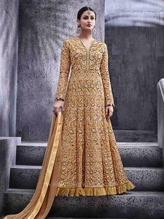 8ffe98a77b9 Unstitched Anarkali Suit With Zari and Resham Work  partywear   designerdress  unique  stylish