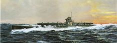 CV-16 — Submarine I-370, by  Takeshi Yuki.