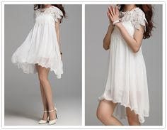 New arrival white lace dress chiffon dress women's by sexyclothing, $59.99