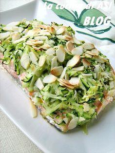 Salmone al forno con zucchine e mandorle un piatto sano e pieno di gusto Ricetta salmone al forno La cucina di ASI