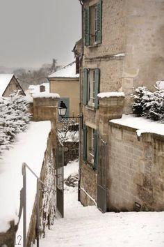 Escalier église d'Auvers sur Oise