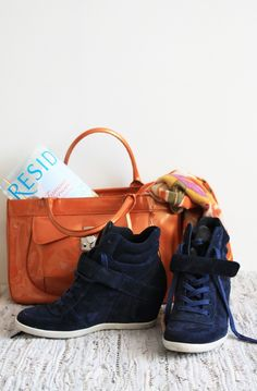 wedge sneakers #style #fashion #accessories