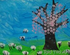 Exploring Spring through Art and printing. Ideal for #preschoolers