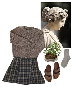 """""""statuesque"""" by sailintothesky ❤ liked on Polyvore featuring Distinctive Designs, Motel and Birkenstock"""